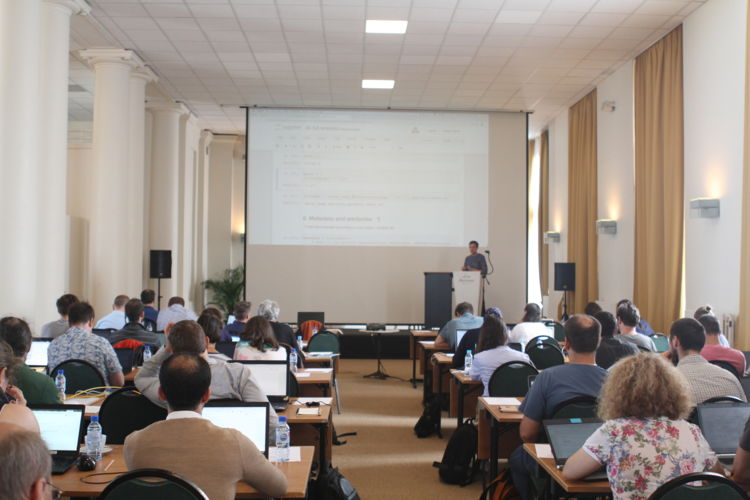 SeaDataCloud 2nd training workshop - picture of one of the presentation made during the event