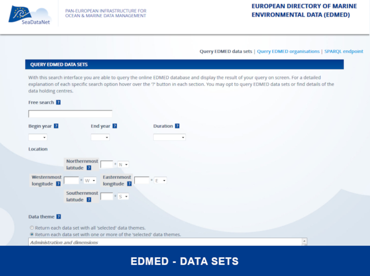 EDMED - Datasets - SeaDataNet