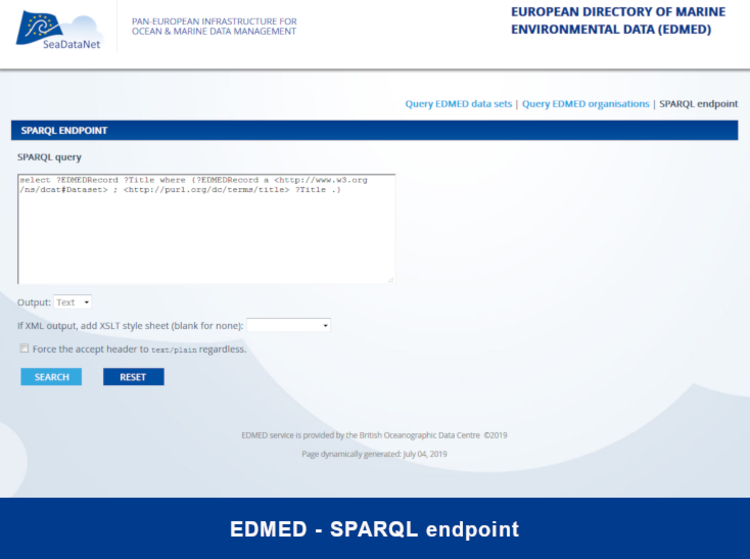 Query EDMED sparql endpoint