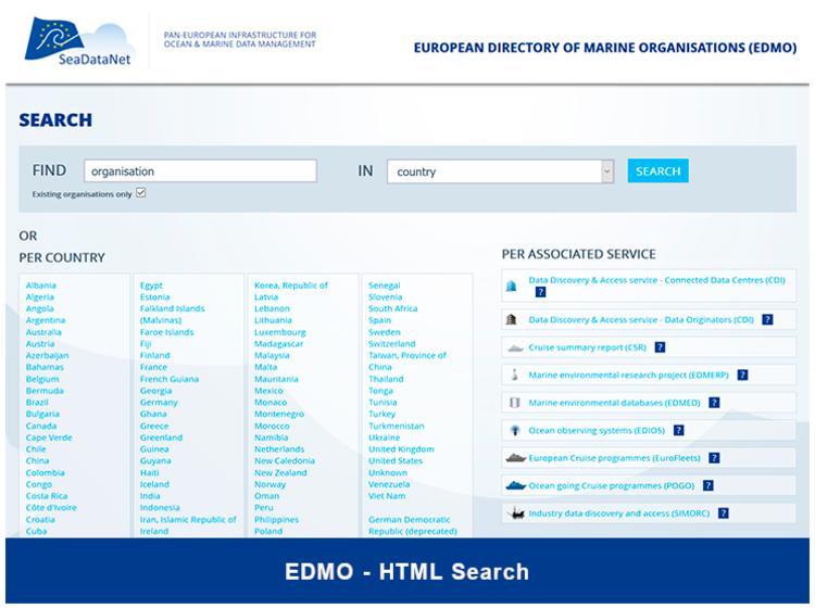 EDMO - Organisations - SeaDataNet